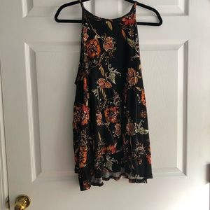 Torrid 3x black and orange floral High neck tank
